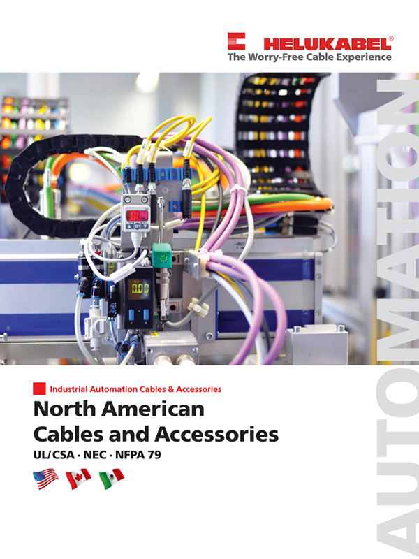 UL/CSA, NEC, NFPA 79 - North American Cables and Accessories