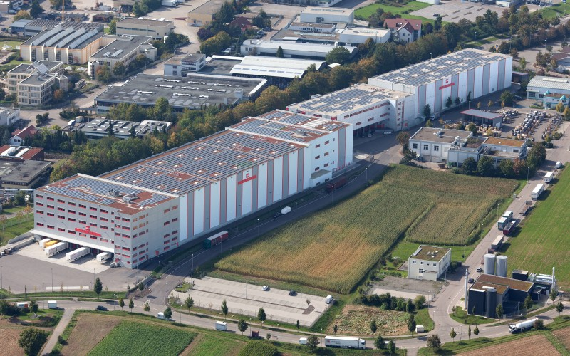 Helukabel logistics centre bird's eye view