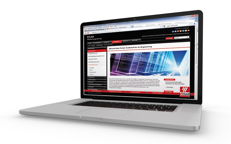 Laptop with webshop from Helukabel